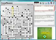 Playing crosswords generated by Kurupira.