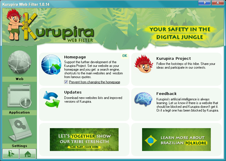 Kurupira Web Filter FREE full screenshot